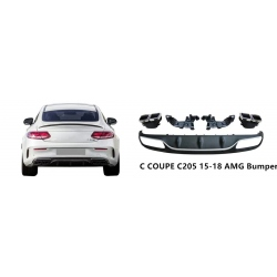Difusor cola de escape embellecedor Mercedes Benz Clase C coupe C205 2014-2017