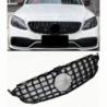 Calandra compatible con Mercedes Benz Clase C W205 con cámara de 360° (Color Negro Brillante)