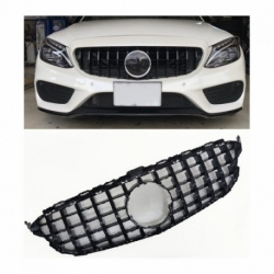 Calandra compatible con Mercedes Benz Clase C W205 (Color Negro Brillante)