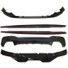 KIT DE DIFUSOR Y FRONTERA  BMW 5 SERIES G30 G31 M-PACK NEGRO BRILLANTE